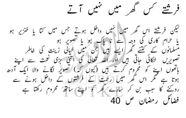 farishton kis ghar mai nahi jate