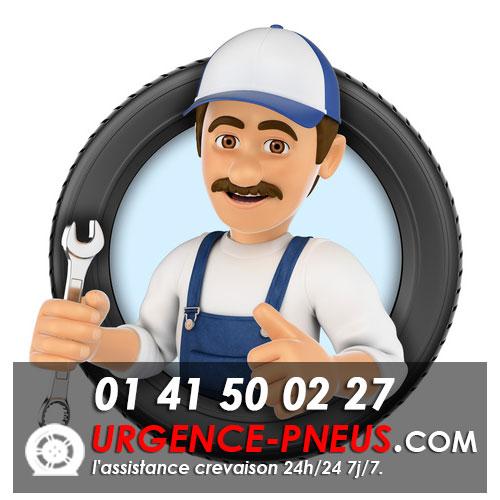 réparation pneu crevé Paris urgence pneu