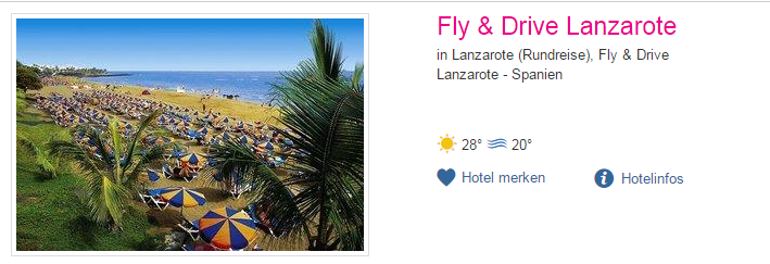 lanzarote fly & drive urlaubspate