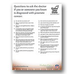 Questions to ask your doctor at Prostate Cancer Diagnosis
