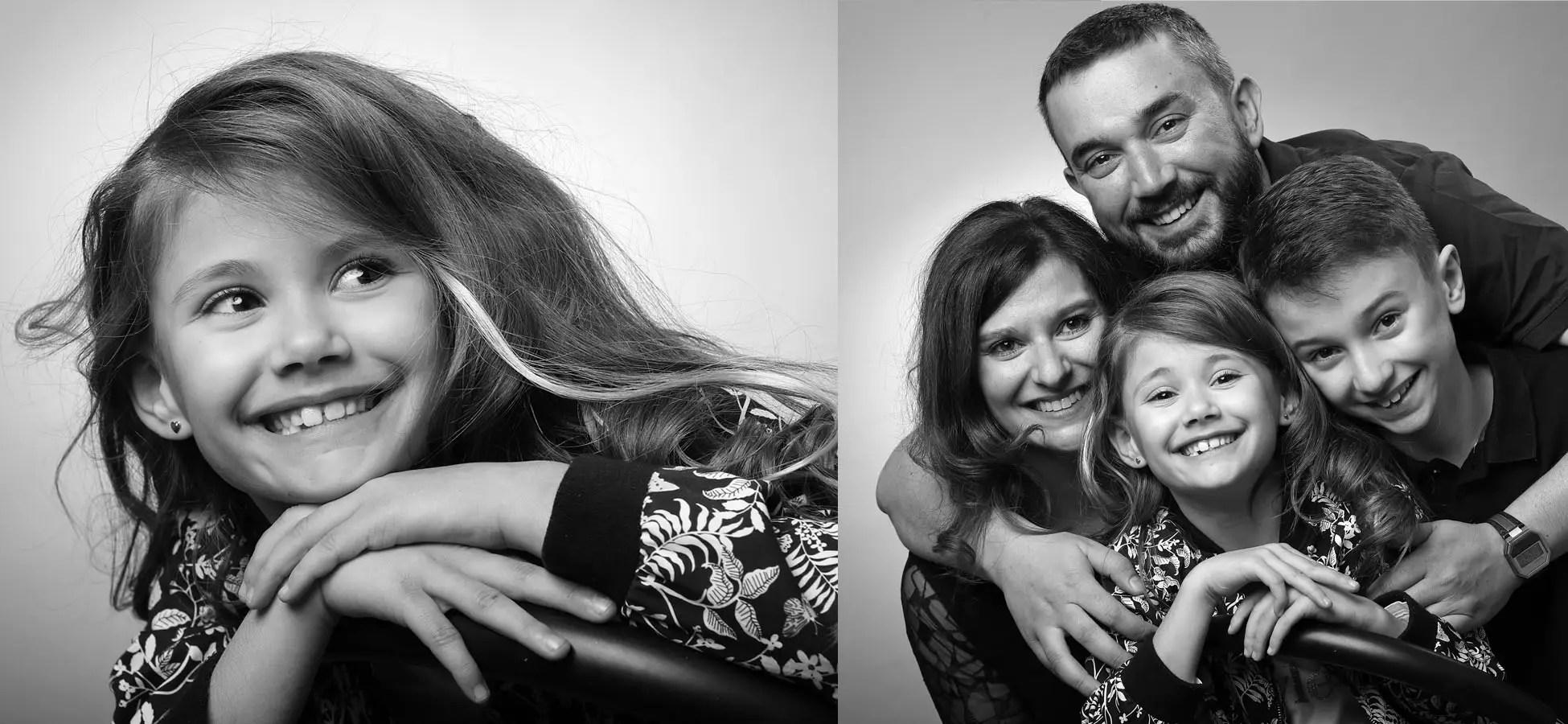 Photo de famille lors d'un shooting en Studio à Grenoble, à l'Agence Urope