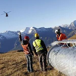 Photo de Reportage Industriel avec dépose en Hélicoptère à l'Alpe d'Huez