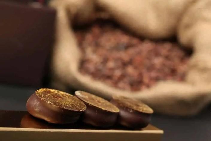 des douceurs chocolatés avec un arrière plan