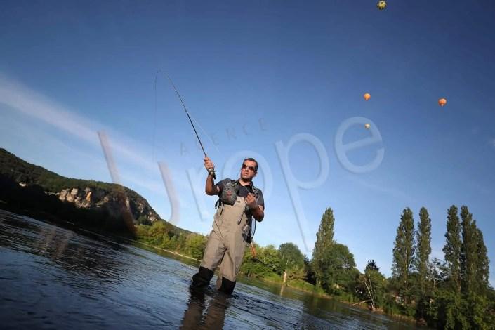 Photo de pêche à la Mouche sur la Dordogne