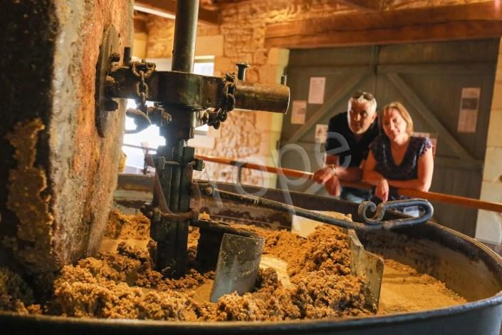 Phoot du broyeur à noix pour la confection de l'huile de noix à Castelnau dans le périgord