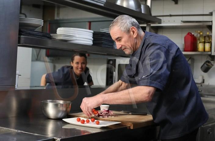 Shooting photo en cuisine au restaurant le Risset