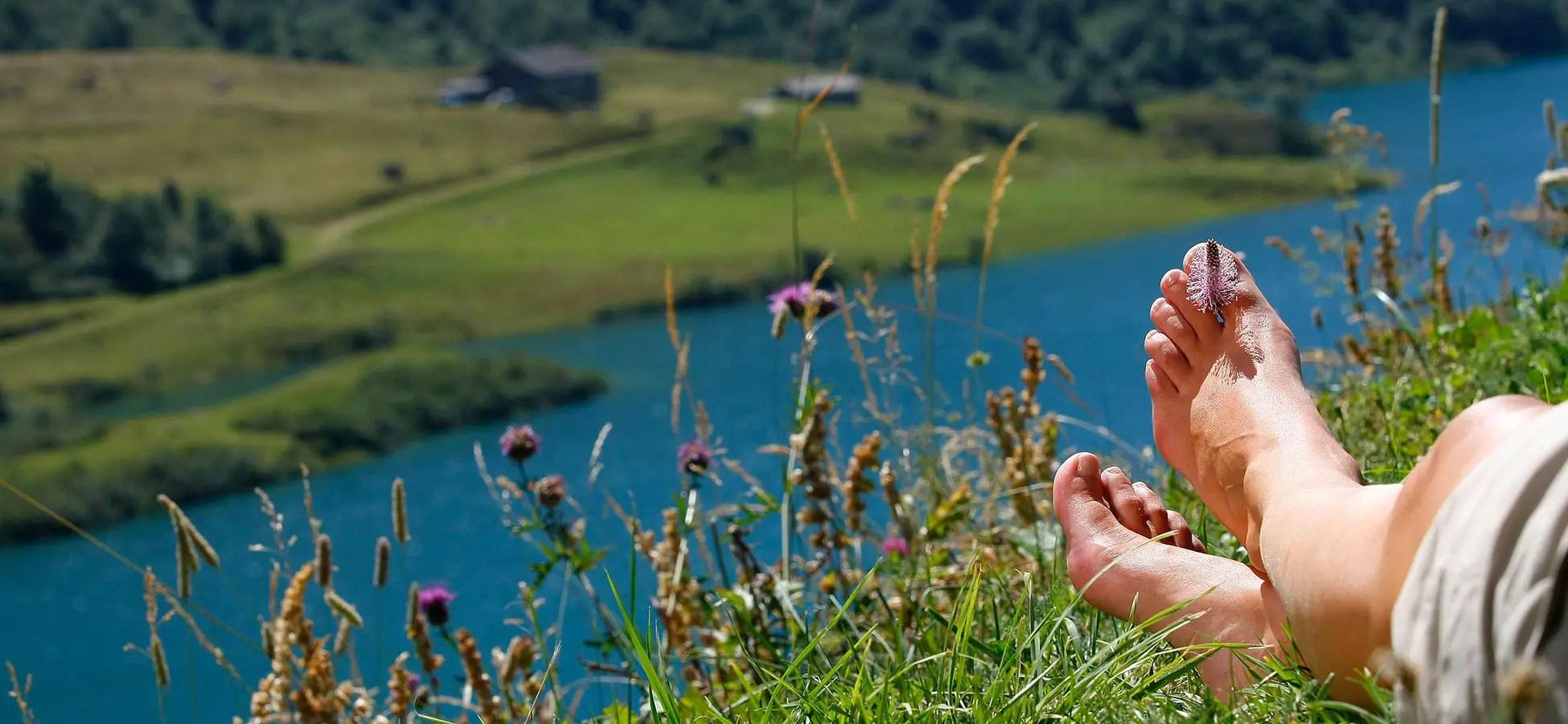Bandeau Agence Photo : reportage photographique illustration détente en montagne