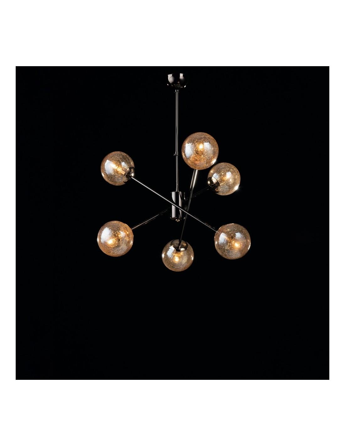 Visualizza altre idee su lampadari, vetro di murano, lampadario in vetro. Lampadario A Sospensione Moderno Nero Con Sfere Tresor Bon 185
