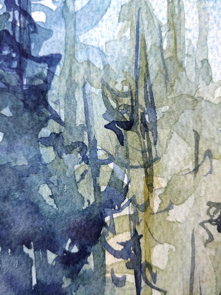 Forêt à l'aquarelle, détail