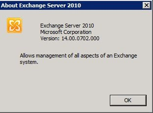 Exchange2010 rtm about Version Number