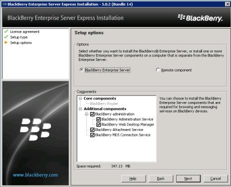 8d-install-bes-express-setup-options-accept-defaults