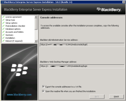 8s-install-bes-express-console-addresses-finish