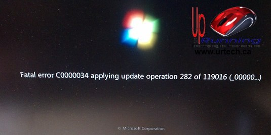 Fatal Error c00000034 applying udpate operation 282 of 119016