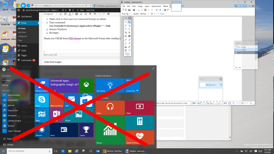 Solved windows 10 start menu and modern apps do not for Window key not working