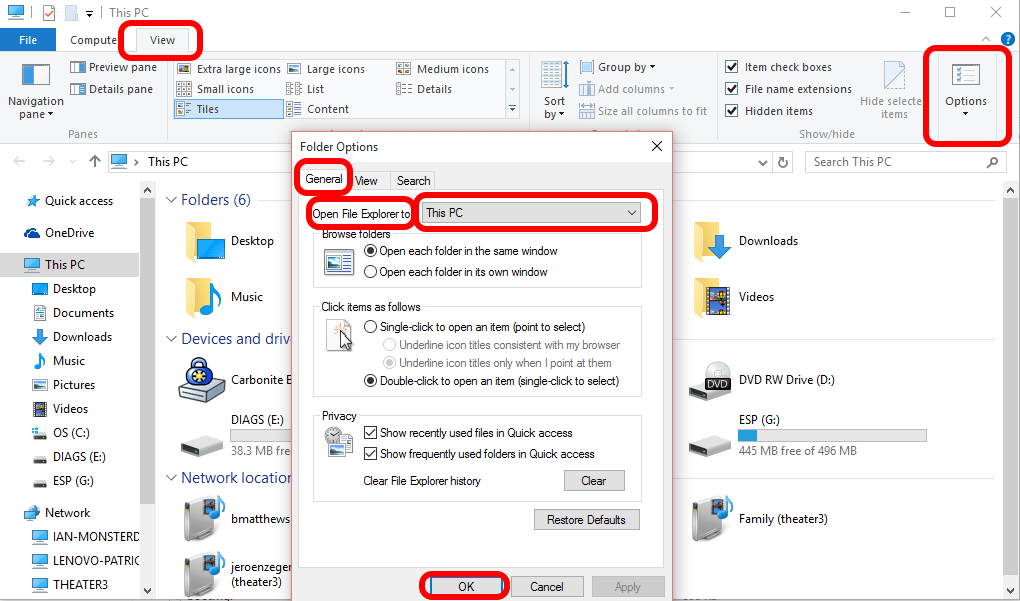 SOLVED: How To Change Windows 10 File Explorer To Open My