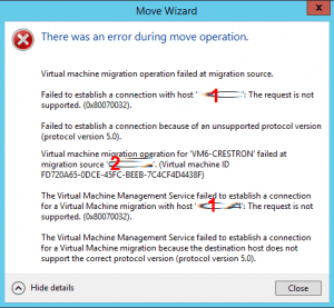 hyperv-server-2012-r2-Failed-to-Establish-A-Connection-Because-Of-An-Unsupported-Protocol-Version-Protocol-Version-5