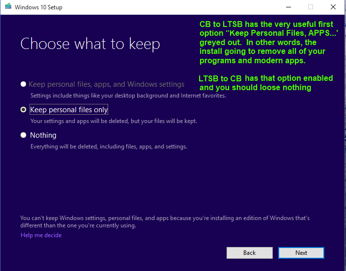 SOLVED: How to Change from Windows 10 LTSB to CB and Back – Up