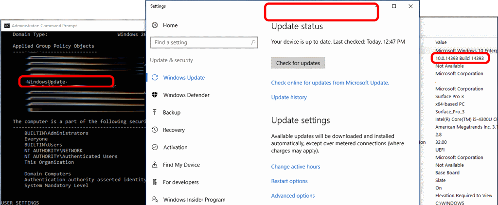 SOLVED: Window 10 1607 Not Applying GPO's For Windows Update – Up