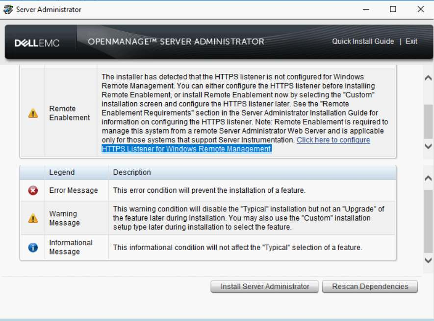 SOLVED: Dell OpenManage Server Administrator Install Alert 'HTTPS