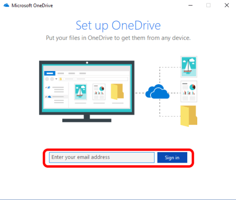 OneDrive-Install-sign-in-email