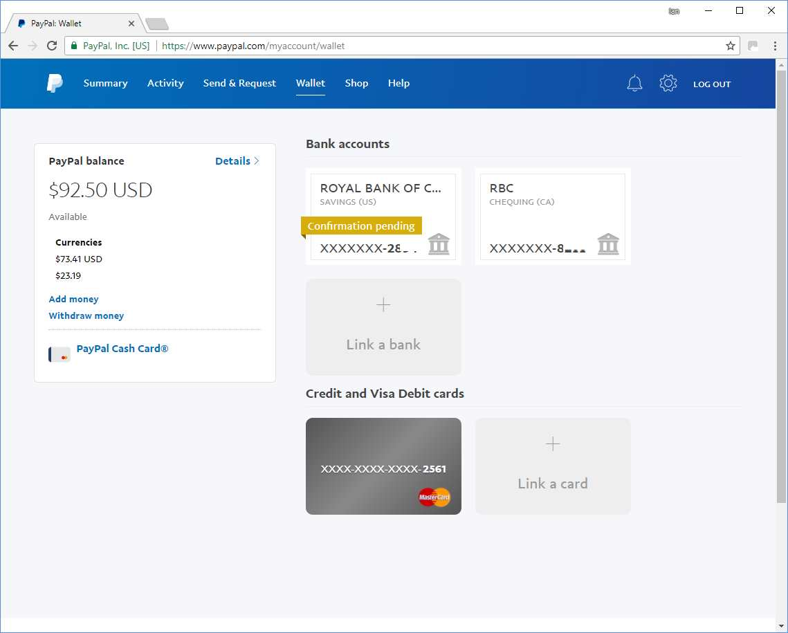 how to connect bank account to paypal