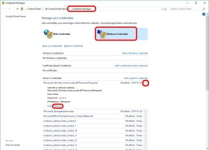 Delete Stored Username and Password from Windows Credential Manager
