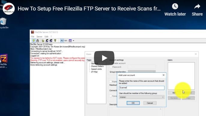 SOLVED: VIDEO: How To Setup Free Filezilla FTP Server to Receive