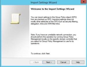import gpo settings