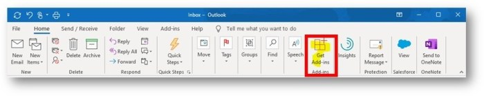 disable GET ADD-INS button in Outlook