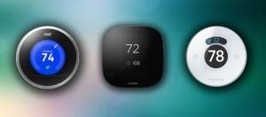 nest Honeywell lyric ecobee thermostat