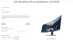 Dell u4919dw curved lcd -overview