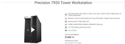Dell Precision T7920 Unboxing Disassembly and Benchmark