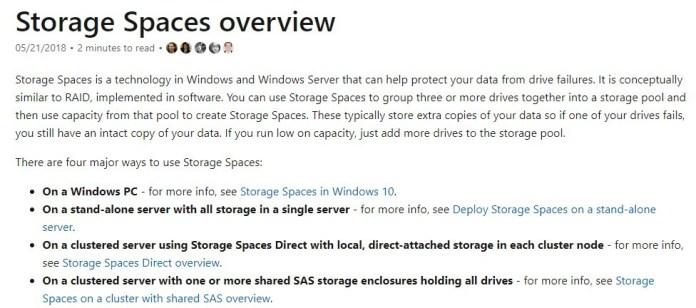 Windows Storage Spaces