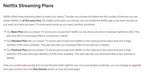 netflix pricing options