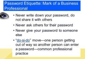 password etiquette