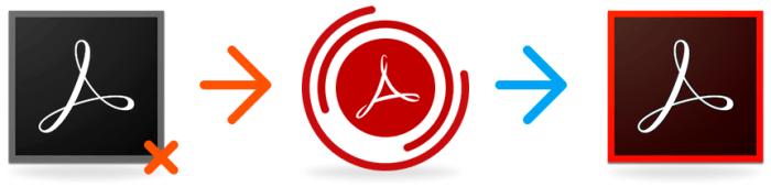 pdf repair - arrows
