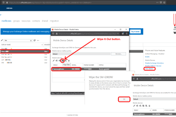 how to remotely wipe a cell phone using Exchange Online O365