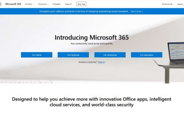microsoft 365 apps home page