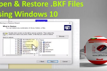 open and restore bkf files in Windows 10