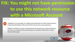 you might not have permission to use this network resource microsoft account