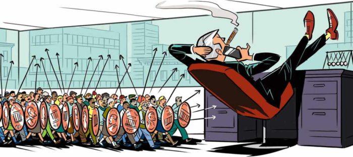 class action lawsuit cartoon