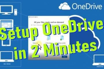 Quick OneDrive Setup and Limitations
