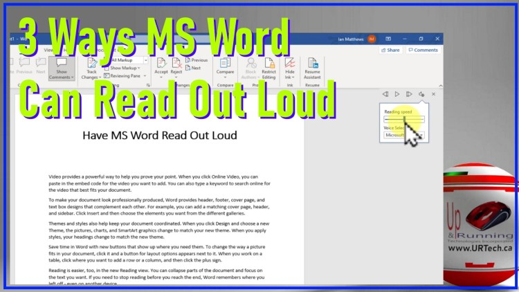 3 ways ms word can read aloud to you