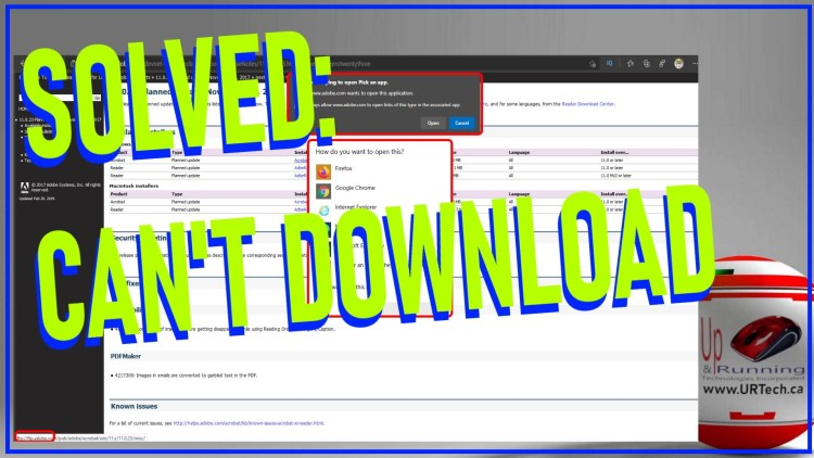 solved - cant download files using chrome or edge