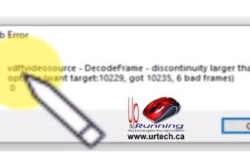 Virtualdub Error vdffvideosource - decodeframe - discontinuity larger than in options