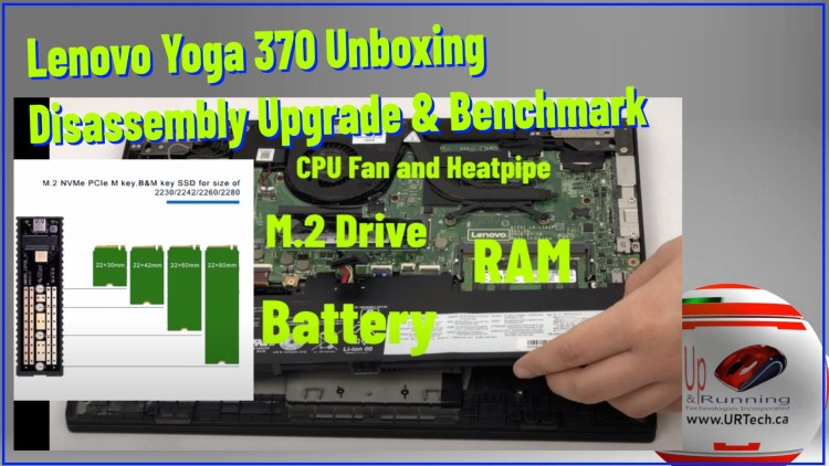 SOLVED: Lenovo Yoga 370 Unboxing, Disassembly & Upgrade Video