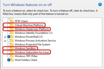Windows 11 HyperV vs Virtual Machine Platform vs Windows Hypervisor Platform vs Windows Subsystem For Linux vs Windows Sandbox