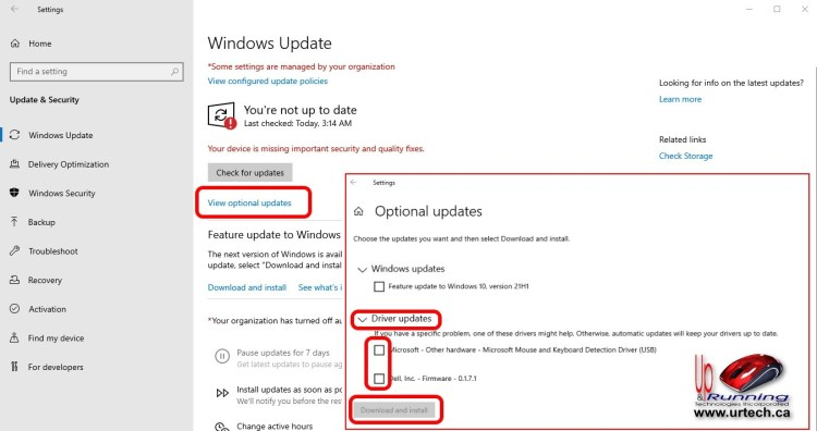 how to install optional updates drivers on windows 10 windows 11