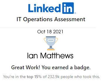 linkedin IT Operations badge