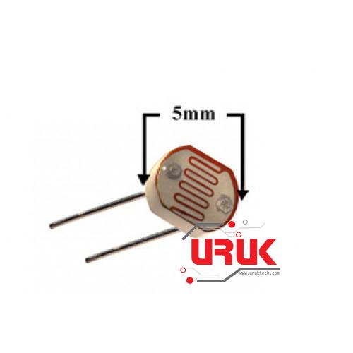 Light Dependent Resistor LDR 5mm | UrukTech